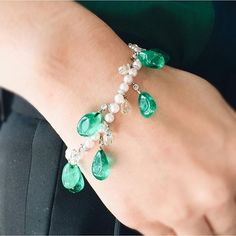 Cartier Charming emerald and diamond bead bracelet, by Cartier. From the astounding collection of HSH Gabriela Princess zu Leinigen to be sold tomorrow, May 18 in Geneva  #christies #christiesjewels #emerald #diamond #diamonds #diamondbracelet #bracelet #bracelets #beads #pearl #pearls #cartier #luxury #jewels #jewelry