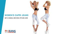Get a Casual and Cool Look in the Stylish ONLYJEANS's Capri Jeans  #Capri #Jeans #Women #Style #Fashion #Shopping #Girl #Trend