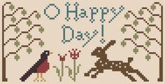 My Heartstring: Free Chart... O Happy Day!  Thanks Beth!