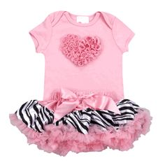 Lollipop Moon - Pink Zebra Love Tutu Set-There's nothing that says, Look at me… I'm a cutie pie! more than a darling tutu set! And Lollipop Moon's P Pink Zebra, My Baby Girl, Baby Love, Pink Girl, Baby Baby, Baby Tutu, Baby Outfits Newborn, Baby Girls, Outfits