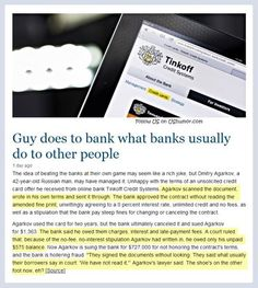 Getting back at a bank
