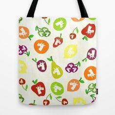 Fruity Unicorns, pattern, apple, pear...