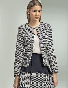 401c3da2f9979 Détails sur Veste femme de tailleur costume ouverte à motifs blazer NIFE  Z08 36 38 40 42 44