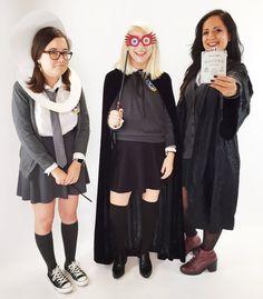 Moaning Myrtle, Luna Lovegood, and Hermione as Bellatrix Lestrange