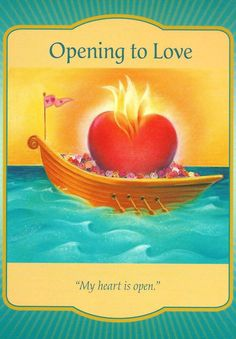 "The ""Opening to Love"" card from Denise Linn's Gateway Oracle deck was drawn to answer a reader's question about life after divorce and how to find love with a new partner. Oracle Tarot, Oracle Deck, Angel Guidance, Spiritual Guidance, Spiritual Life, Angel Prayers, Doreen Virtue, Angel Cards, Tarot Readers"