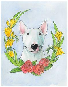 Bull Terrier Ivan Art Print by littleleena Perros Bull Terrier, Bull Terrier Dog, Outline Drawings, Animal Drawings, Bullterrier Tattoo, Miniature Bull Terrier, Bully Dog, English Bull Terriers, Fox Art