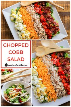 Chopped Cobb Salads | The Chef Next Door featured on Produce For Kids