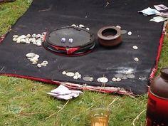 Game of dice at nomad encampment, Tibet