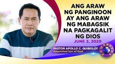 Ang Araw ng Panginoon ay ang Araw ng Mabagsik na Pagkagalit ng Dios Great Leaders, Son Of God, Apollo, Need To Know, Father, Spirituality, Heaven, Messages, Sayings