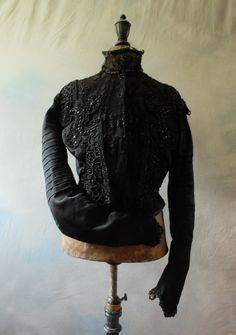 French Belle Epoque Victorian beaded black par FrenchModeVintique