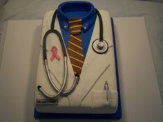 Dr's Lab Coat By cakelady1958 on CakeCentral.com