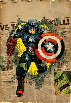 Captain America Poster Print