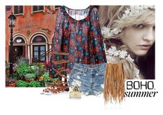 """""""Boho Summer"""" by katiethomas-2 ❤ liked on Polyvore featuring Yves Saint Laurent, Balenciaga and Marc Jacobs"""