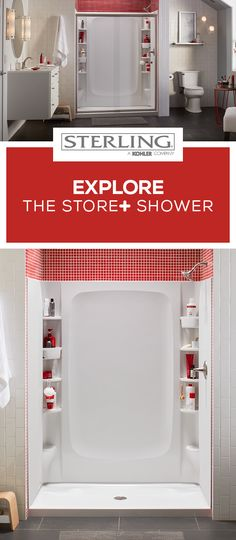 Spacious. Customizable. Versatile. It's the STORE+ Shower.