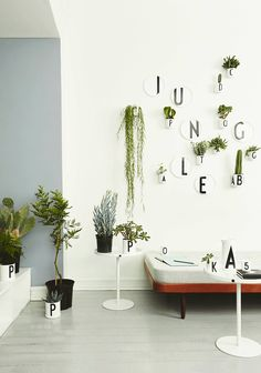 Design Letters plates, plant pot and porcelain with typography by Arne Jacobsen. Table to Go, designed by Christian Flindt for Design Letters & Friends. Arne Jacobsen, Decorating Blogs, Interior Decorating, Interior Design, Interior Garden, Lettering Design, Design Letters, Ikea Plants, Jungle Decorations