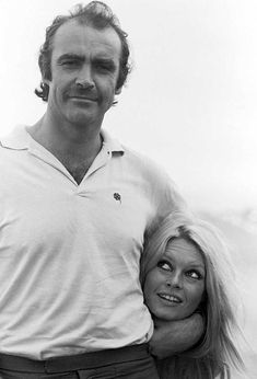 Sean Connery and Brigitte Bardot on the set of Shalako, 1968