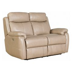 Barcalounger Brockton Power Reclining Loveseat with Power Head Rests in Leather - 29PH3172370186