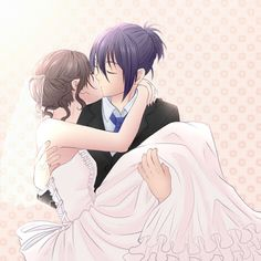 Anime Couples Yato and Hiyori\'s wedding! A dream that I wish can come true Anime/Manga = Noragami - Anime Noragami, Manga Anime, Yato And Hiyori, Manga Love, Anime Love, Manga Girl, Anime Girls, Anime Bisou, Desenhos Love