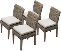 TK Classics TKC092b-ADC-2x-C 4 Piece Cape Cod Armless Dining Chairs, Beige. Luxury Patio Furniture. Color : Beige. Designed to create luxurious outdoor living environment.