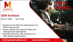 Job opportunity: AEM #Architect with 6+ yrs experience in AEM, #Java, #HTML, CSS etc. Contact us and share the resume on trinath.gattu@madhees.com