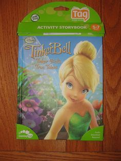 Leap Frog TAG Reader Book Disney Tinker Bell Tinkerbell Fairy Activity Storybook #LeapFrog