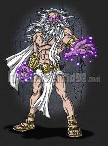 Cronus Zeus Character Concept Art Design