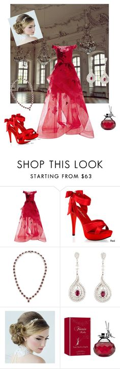 """Shall We Dance"" by parnett ❤ liked on Polyvore featuring Monique Lhuillier, Pleaser and Van Cleef & Arpels"