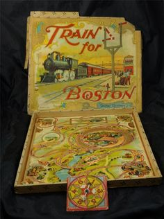 RARE Antique 1900s Train for Boston Toy Board Game Parker Brothers Salem Mass | eBay