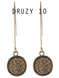 Druzy Earrings from Jeri Vann Creations on Groopdealz now!   #accessories #jewelry #sparkle #shimmer #metal #tassel #valentine #ootd #gold