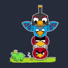 Check out this awesome 'Angry+totem+pole' design on TeePublic! http://bit.ly/1oYegrv