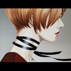 """Brave Heart"" by Duma Oil on canvas, 80 x 80 cm"