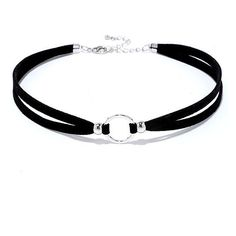 Circle Around Black and Silver Choker (£12) ❤ liked on Polyvore featuring jewelry, necklaces, silver, sport necklace, beaded choker necklace, sport charms, circle necklace and beaded choker