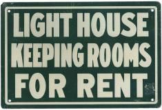 old rooms for rent sign . $45.00