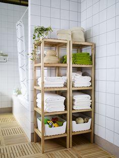 In onze MOLGER meubelserie vind je alles wat je nodig hebt om de badkamer te organiseren. #IKEA