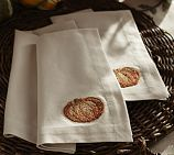 Pumpkin Embroidered Napkins, Set of 4   Pottery Barn