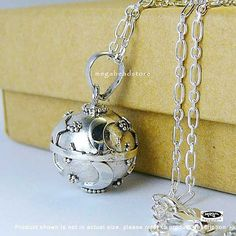 Moon and Star Harmony Ball Pregnancy Necklace.