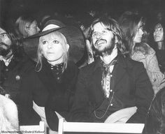 August 1969 - Maureen and Ringo at the Bob Dylan concert held at the Isle of Wight Festival. George Harrison is seen on the left, and Yoko is in the background She Belongs To Me, Isle Of Wight Festival, Richard Starkey, Ted Kennedy, Music Station, New Wife, The Fab Four, Ringo Starr, Eric Clapton