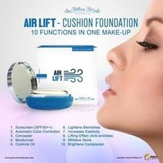 Airlift Cushion Foundation is a state of the art cosmeteutical marrying the benefits of make-up and skin care in an ultrafine coverage powder that works instant