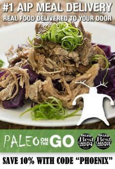 Frozen Meals for the Paleo Autoimmune Protocol. Keep some in your freezer for emergencies, and order some for your next vacation! (affiliate)