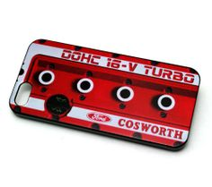 iPhone 5 5S Cosworth rocker cover RED Phone case , Escort Sierra Sapphire RS
