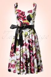 Hearts and Roses White Red Floral Swing Dress 102 59 13532 20140617 0006W