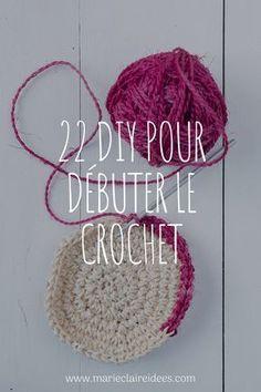 22 DIY pour apprendre le crochet facilement - Knitting And Crocheting Crochet Diy, Learn To Crochet, Crochet Gifts, Beginner Crochet, Diy Crochet For Beginners, Beginner Knitting Projects, Knitting For Beginners, Easy Knitting, Beginners Sewing