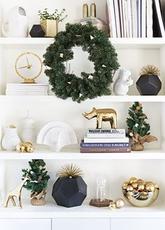 7 Holiday Shelfies Ideas for Small Space Festive Decorating | Apartment Therapy