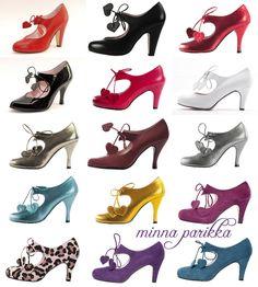 Raquel by Minna Parikka Walk In My Shoes, New Shoes, Me Too Shoes, High Heel Pumps, Pumps Heels, Heeled Boots, Shoe Boots, Vintage High Heels, Dream Shoes