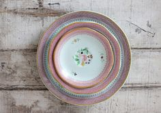 Set of 6 Vintage Plates Calyx Ware Lowestoft by jerseyicecreamco, $50.00