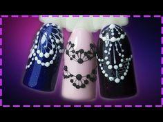Дизайн ногтей. Кружева - YouTube