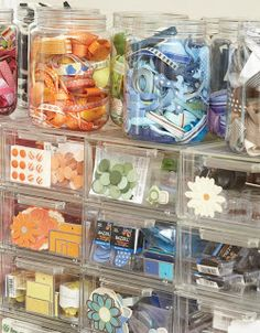 ribbon, notions and scrapbooking storage