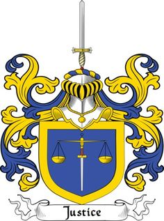 Justice Family Crest and Coat of Arms