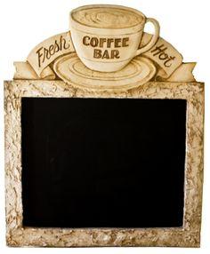 Coffee Bar Chalkboard, cute for the home! (handmade in the USA) Piazza Pisano Studio