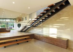 Mill Valley CA MODERN ADDITION TO MID CENTURY MODERN HOME - modern - staircase - san francisco - DANIEL HUNTER AIA Hunter architecture ltd.